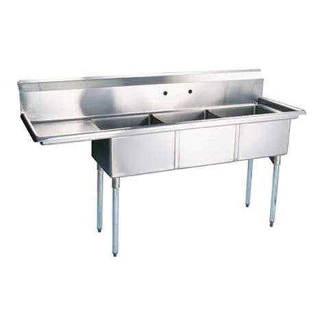 3 compartment sink dishwasher thorinox tts 1818 l18 18 x 18 x 11 corner drain three