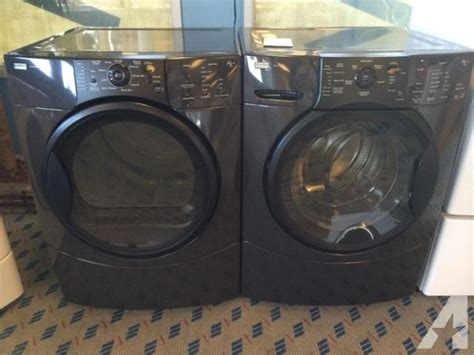 black washer and dryer kenmore elite front load washer dryer set pair used