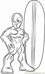 Coloring Surfer Silver Pages Super Squad Hero Cartoon Coloringpages101 Pdf Lego Results Template Series sketch template