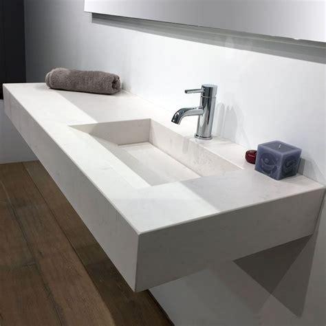 plan vasque salle de bain suspendu 121x46 cm excentr 233 calacatta