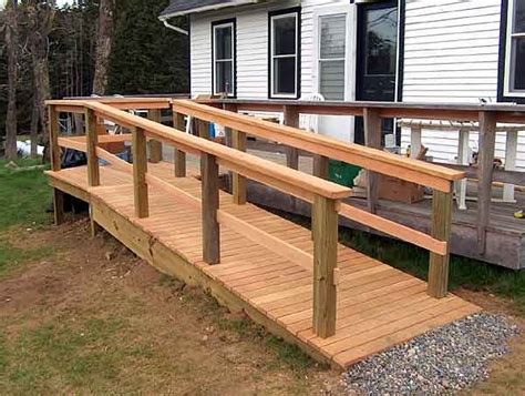 wooden handicap ramp plans