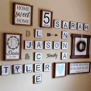 Large scrabble letters wall decor : Best personalized wall art trending ideas on