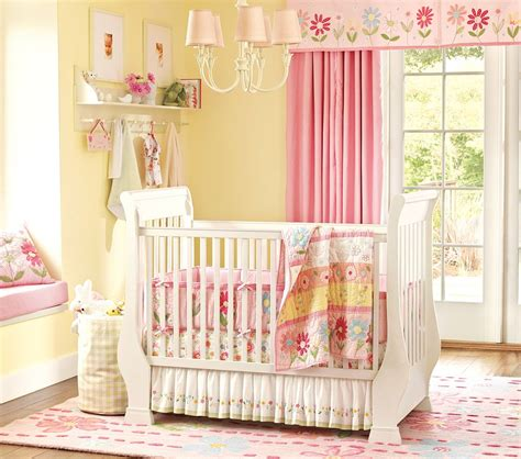 nice pink bedding for pretty baby girl nursery from