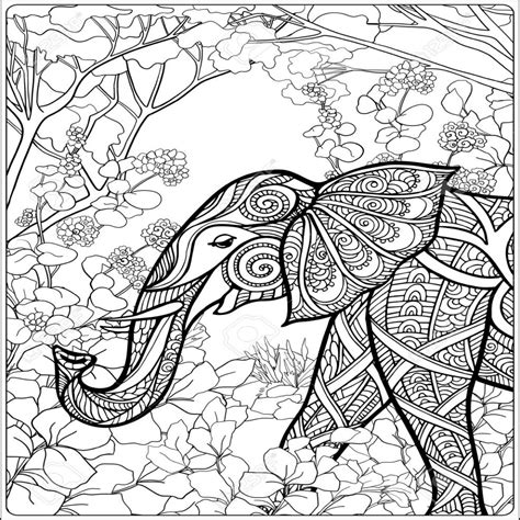 Mandala Kleurplaten Olifant by Kleurplaat Olifant In Het Bos Kleurplaat Olifant 42