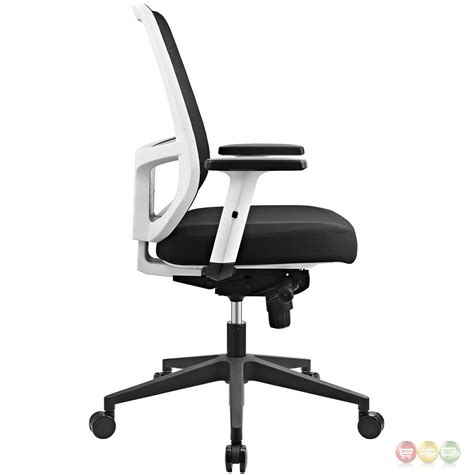 ergonomic desk chair with lumbar support ergonomic mesh back office chair w white frame