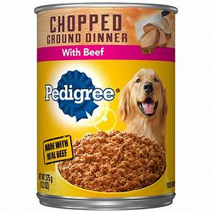 Pedigree Traditional Ground Dinner with Chopped Beef ...