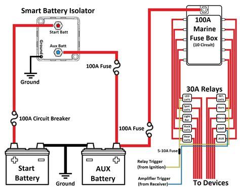 dual battery isolator wiring diagram smart battery isolator dual battery wiring diagram