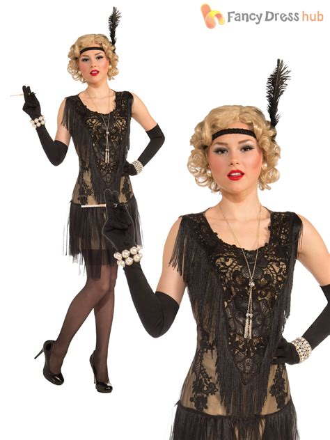 Ladies Deluxe Flapper Costume Womens 1920s Great Gatsby Fancy Dress Charleston | eBay