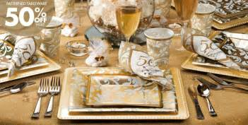 25th anniversary plates golden 50th wedding anniversary party supplies 50th