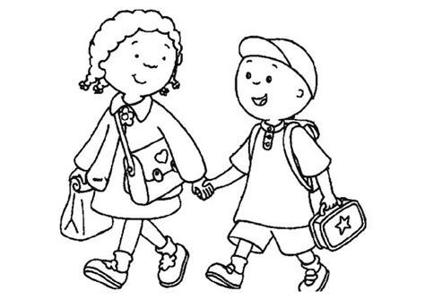 immagini bambini felici da colorare bambini che vanno a scuola da colorare
