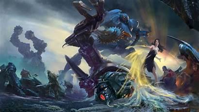 Mech Fantasy Concept Robot War Artwork Battle