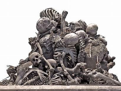 Bones Pile Transparent Skulls Background Skull Clip