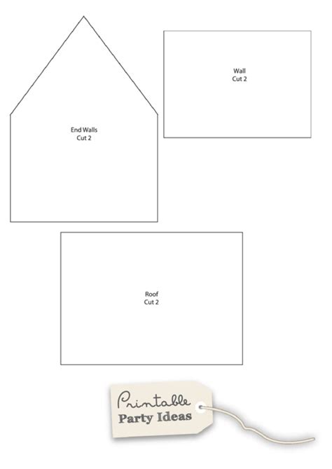 small gingerbread house template printable