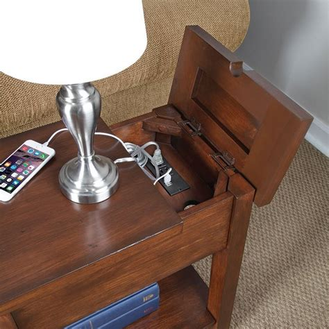 diy sofa table with outlet device charging end table viral gadgets