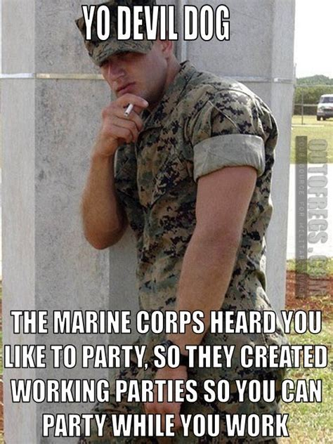 Marine Corps Memes - outofregs archives working parties military memes pinterest military humor military