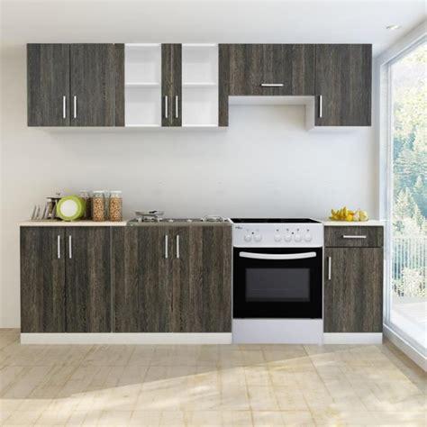 bloc cuisine pas cher bloc armoires de cuisine en wengé 7 pcs avec four