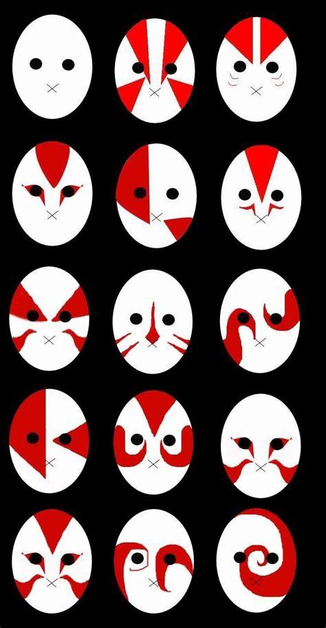 mascaras anbu  imagens mascara anime olhos de anime personagens de anime