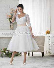 plus size vintage wedding dresses vestidos de noiva plus size gown wedding dress vintage sleeve lace tea length wedding