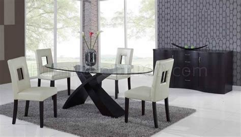clear glass top modern dining table woptional chairs buffet