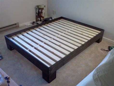 ana white chunky leg bed frame slightly taller diy