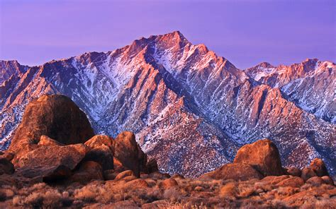 Rocky Mountains Covered With Snow Alabama Hills With