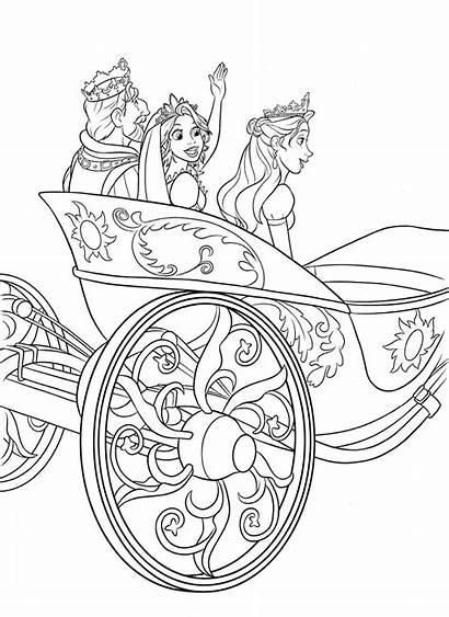Coloring Pages Disney Tangled Rapunzel Printable Printables