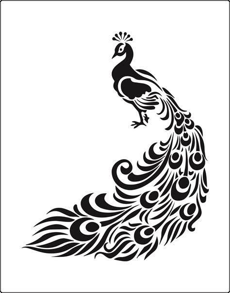 peacock stencil to buy now