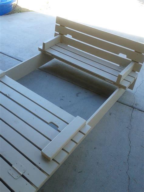 ana white custom sandbox  built  seats diy projects