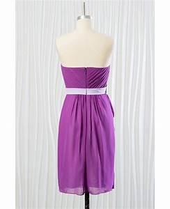 short purple chiffon bridesmaid dress for summer beach With purple summer dresses for weddings