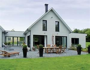 maisons ossature bois avec bardage de couleurs With maison avec bardage bois
