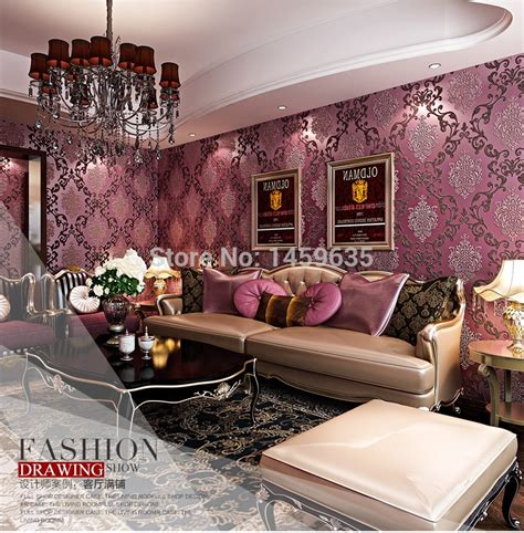 bedroom with pink walls luxury modern 3d embosswed background wallpaper for living 14476