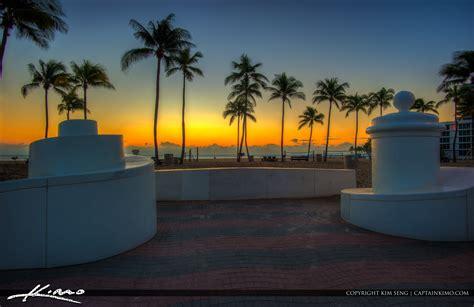 fort lauderdale beach park coconut tree  sunrise