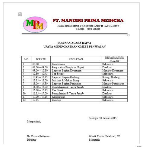 Membuat Acara Rapat by Administrasi Perkantoran Smkn 1 Salatiga April 2016