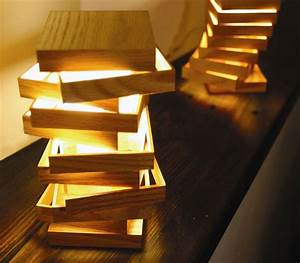 Lampe Design Bois : index of wp content 2009 07 ~ Teatrodelosmanantiales.com Idées de Décoration