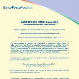 banco posta fondi sgr bancoposta obbligazionario italia settembre 2018 il sole