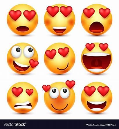 Emoji Valentine Valentines Heart Smiley Clipart Vector