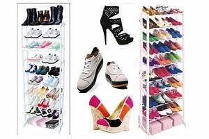Placard à Chaussures : meuble range chaussure 19 99 jusqu 30 paires de chaussures ~ Teatrodelosmanantiales.com Idées de Décoration