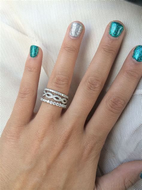 stackable engagement ring with one infinity band my wedding engagement rings stackable
