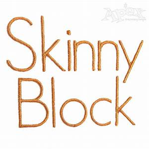 skinny block embroidery fonts apex embroidery designs With block monogram font