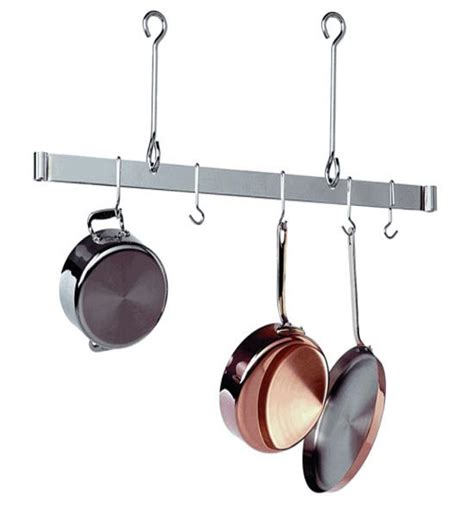 Kitchen Ceiling Pot Hangers by Sleek Ceiling Bar Hanging Pot Rack In Hanging Pot Racks