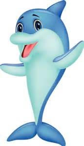 Cute Cartoon Dolphin Clip Art