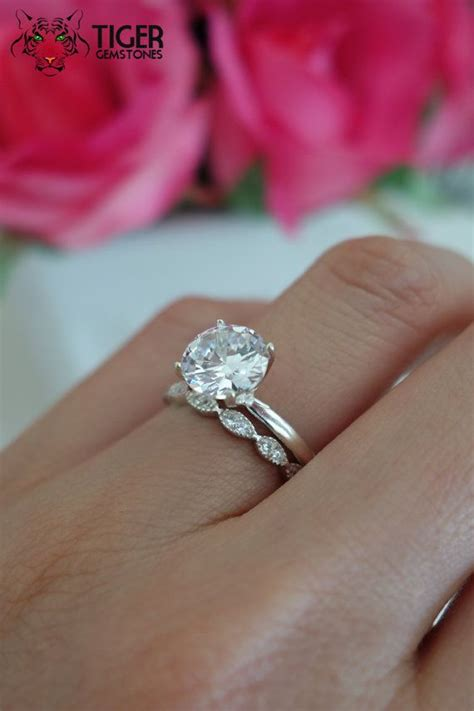 sale 2 carat art deco round solitaire wedding set man