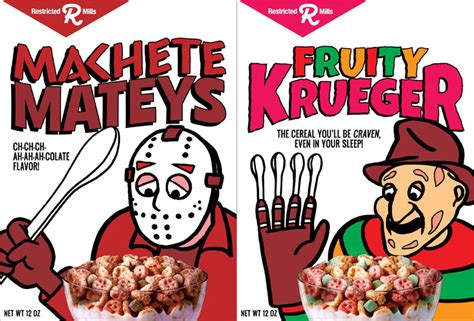 Monster Cereals Updated With Modern Horror Characters   Foodiggity