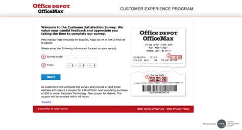 Office Depot Feedback by Www Officedepot Feedback Take Office Depot 174 Survey