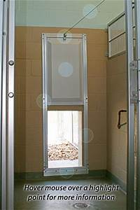insulated dog doors for boarding facilities by stone With standard door with dog door