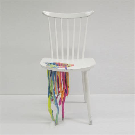 odds and ends furniture bleeding painted chair adelle