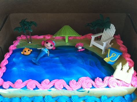 lalaloopsy mermaid cake cake ideas birthday cake