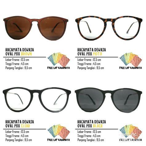kacamata dewasa oval mix frame bisa diganti lensa minus plus silinder shopee indonesia