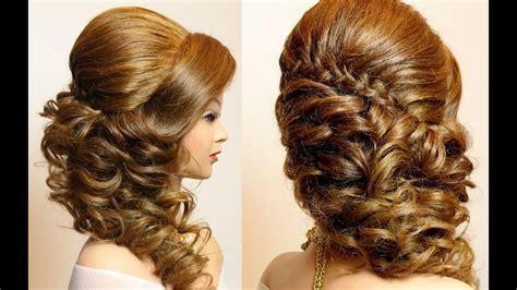bridal hairstyle  braid  curls hair tutorial youtube