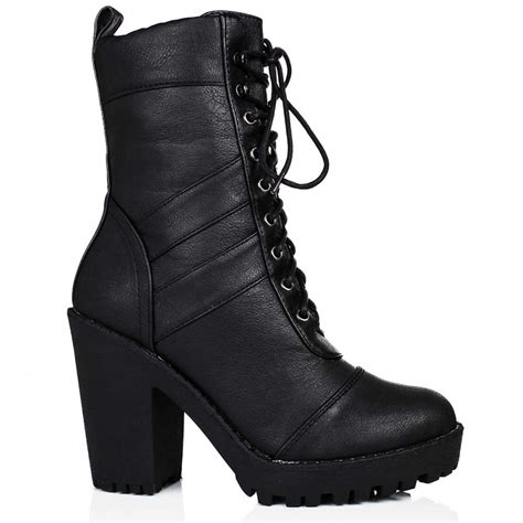 biker ankle boots buy izzy heeled platform biker ankle boots black leather